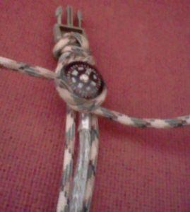 Paracord bracelet mit Kompass