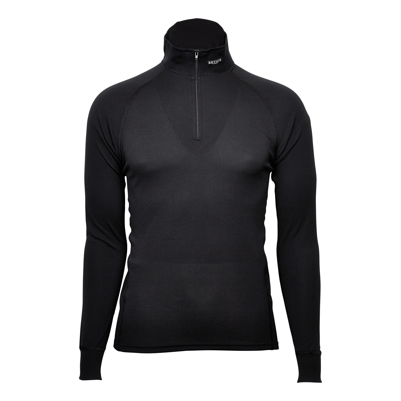 Brynje Poloshirt Sprint Zip schwarz