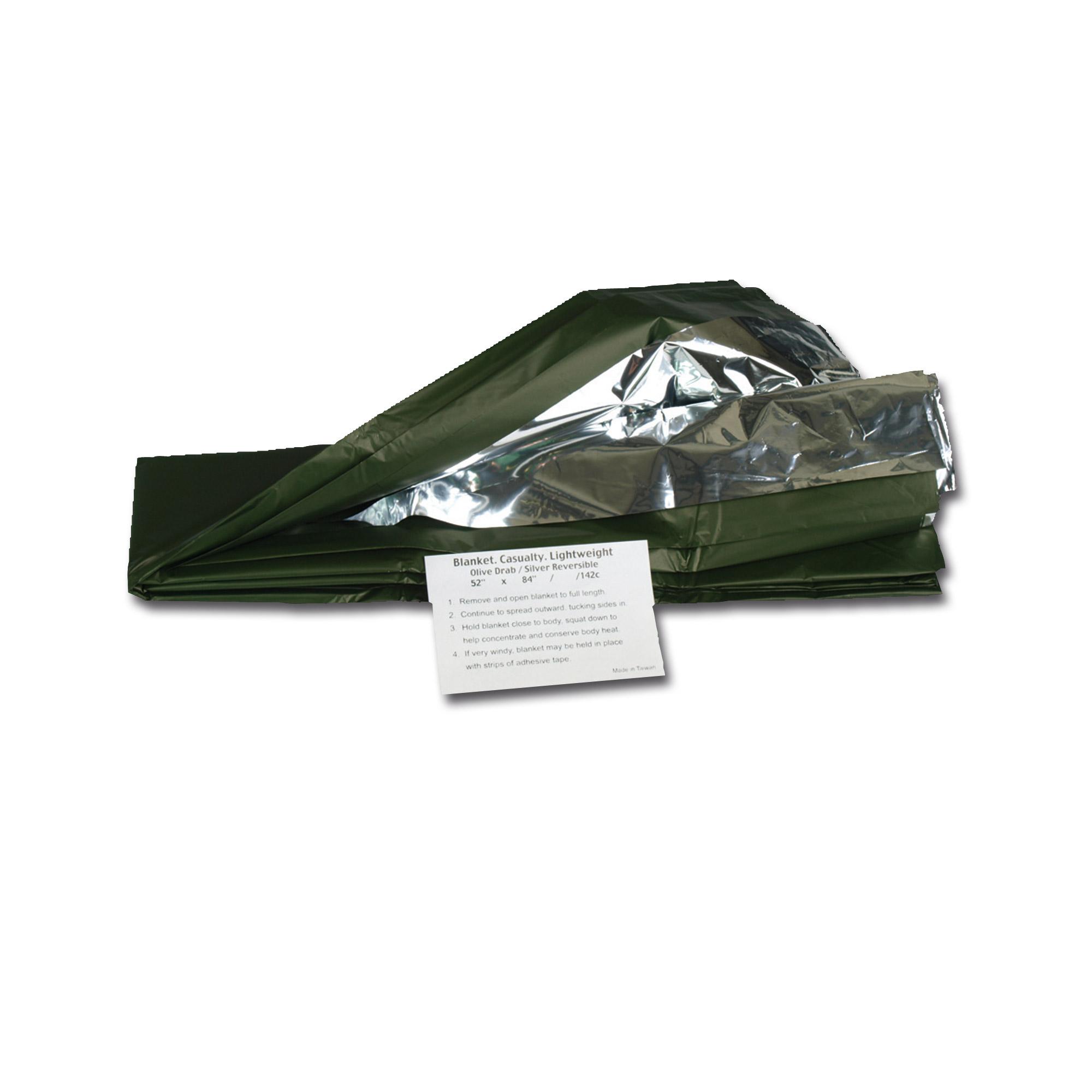 Rettungsdecke silber/oliv