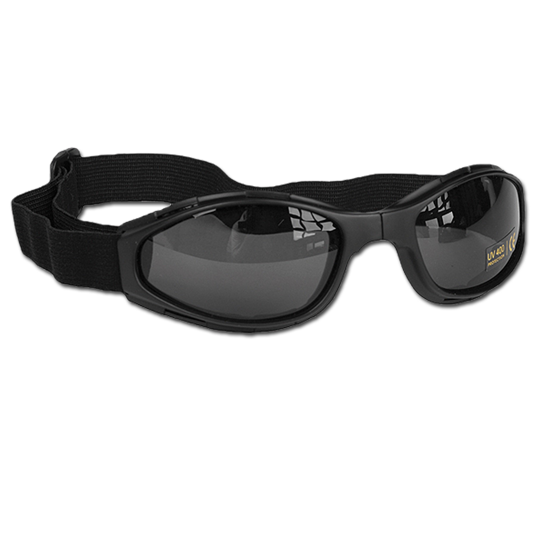 Schutzbrille Mil-Tec faltbar schwarz
