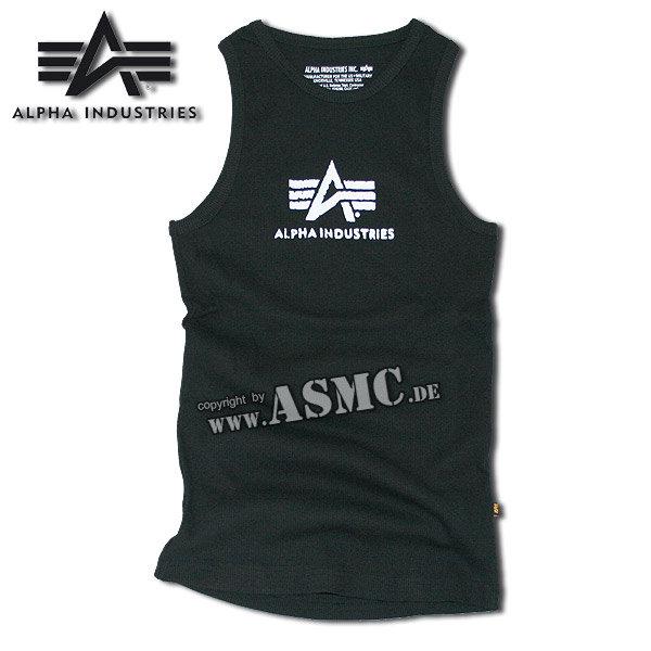 Tank Top Alpha Logo schwarz/weiss