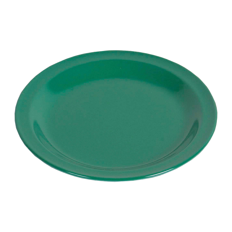 Teller flach Melamin grün