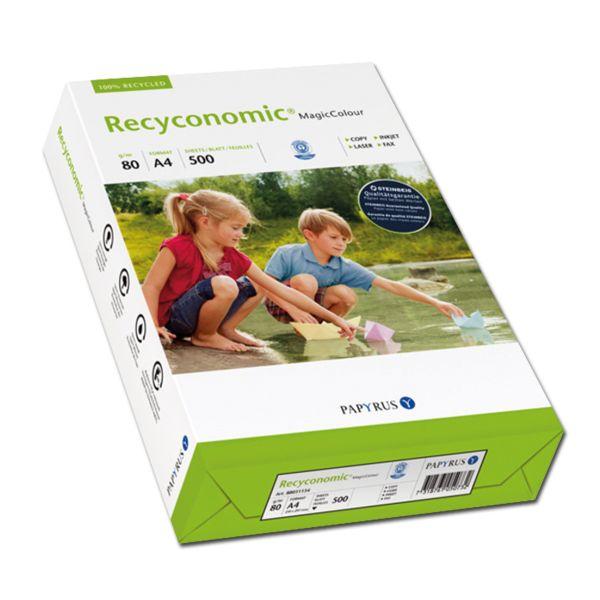 Farbiges Recyclingpapier A4 grün 80 g/qm 500 Blatt