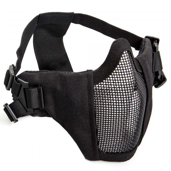 ASG Gitterschutzmaske Metall-Mesh m. Wangenpolster schwarz