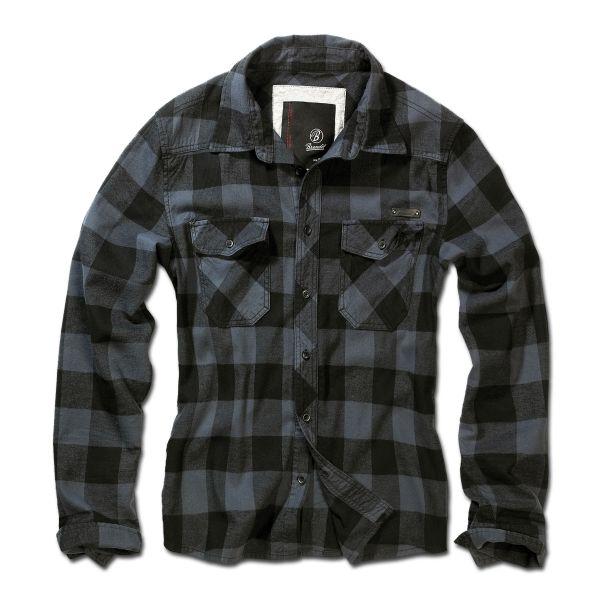 Brandit Checkshirt schwarz grau