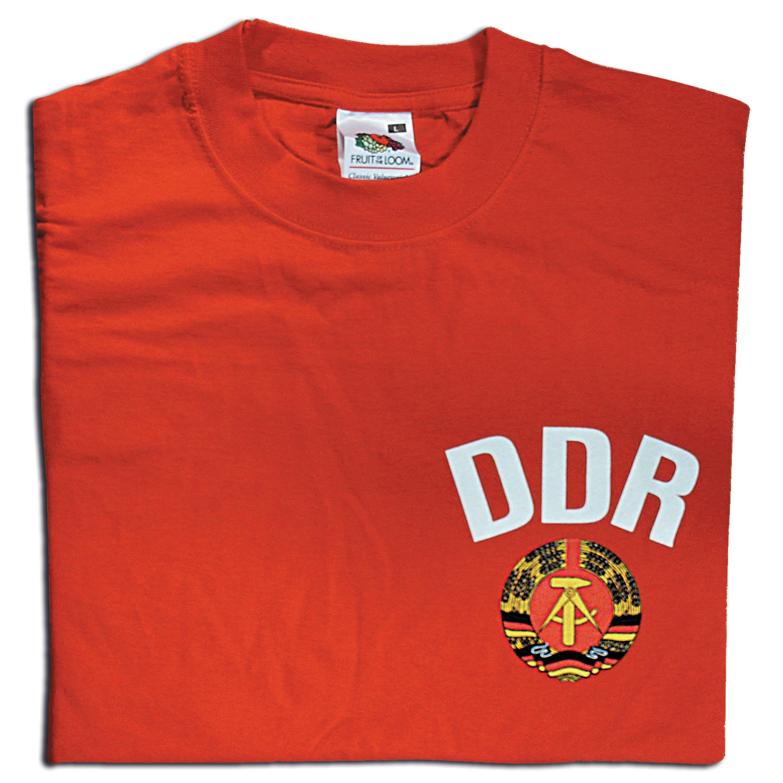 T-Shirt DDR rot