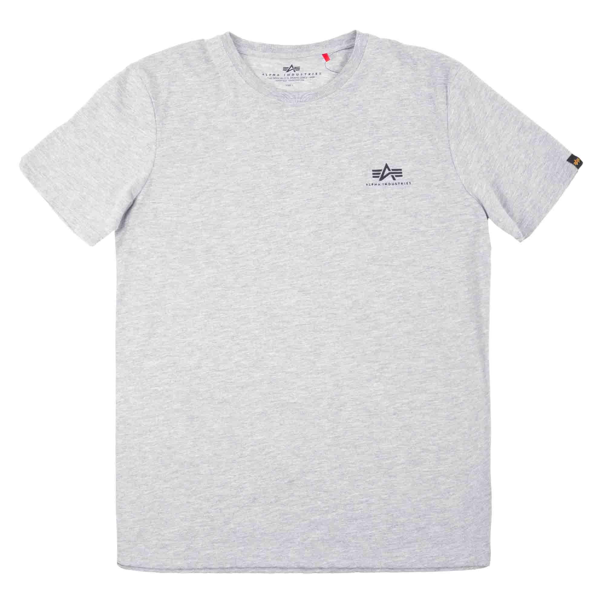 Alpha Industries T-Shirt Basic Small Logo grey heather