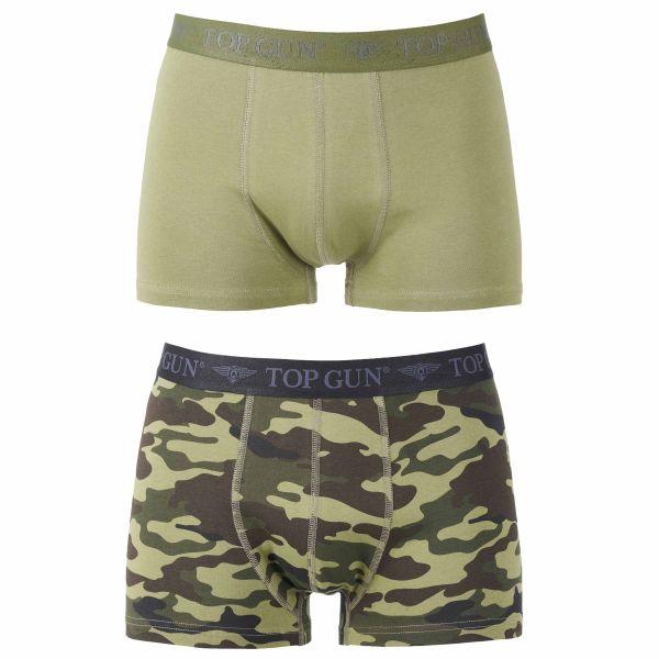 Top Gun Boxer Shorts oliv tarn 2er Pack