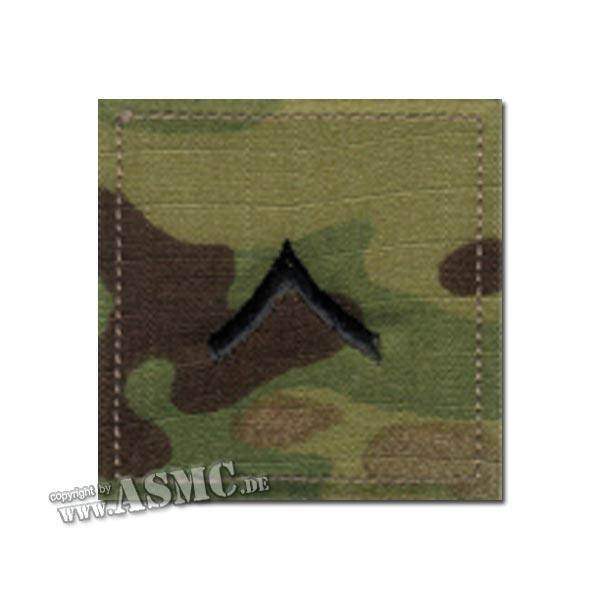Rangabzeichen US Multicam Private