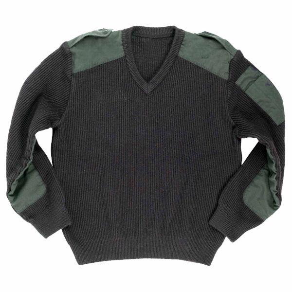 Französischer V-Pullover dunkelgrün gebraucht