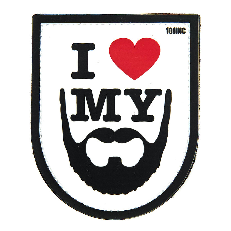 3D Patch I love my Beard weiss