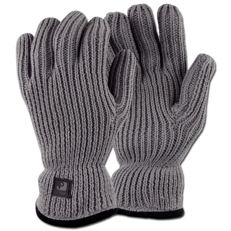 Strickhandschuh Vintage Industries Matrix Glove grau