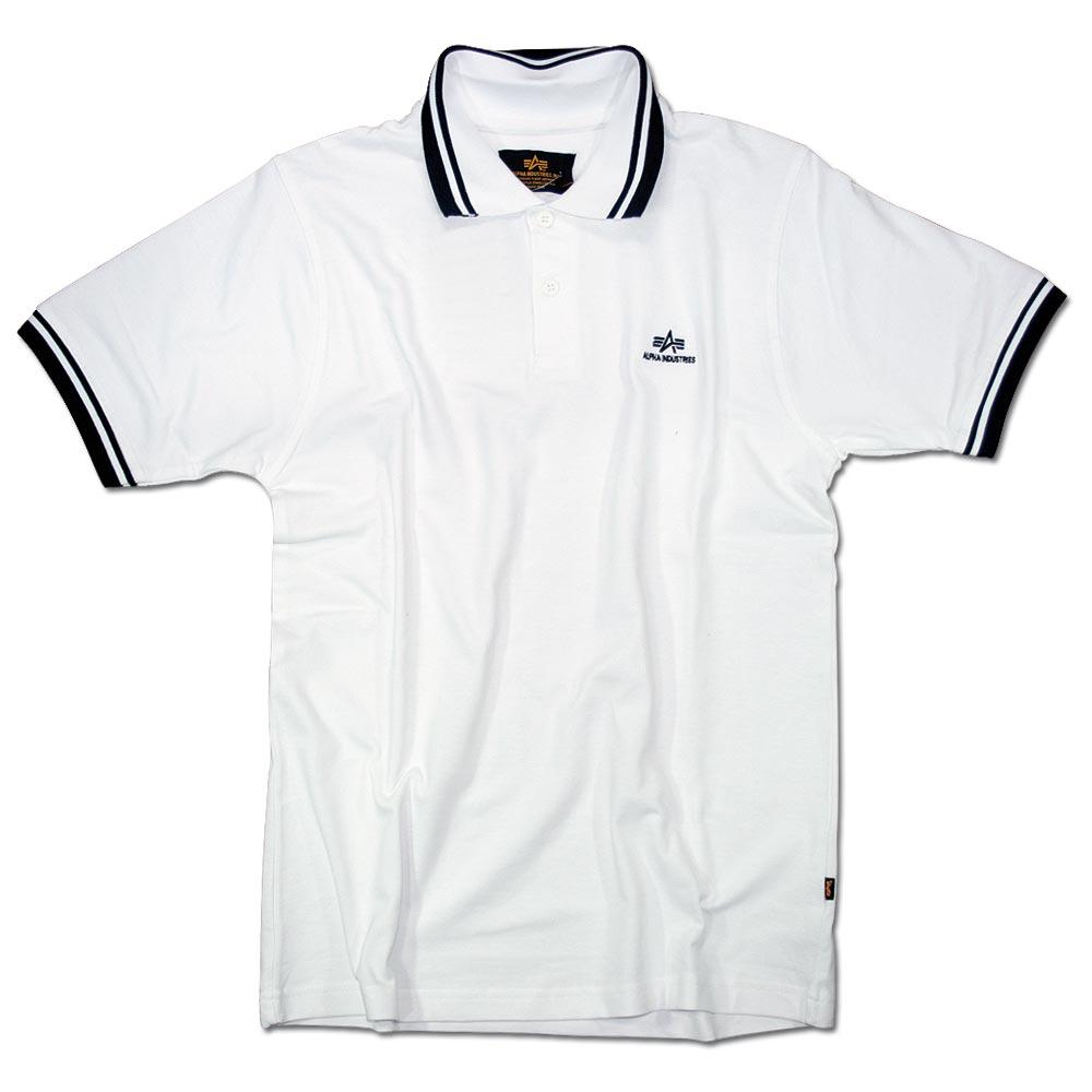 Polo-Shirt II Alpha Industries weiss