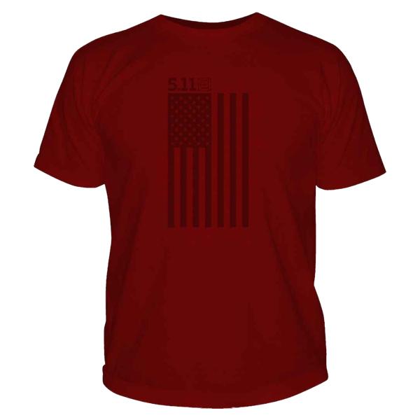 5.11 Shirt Tonal Stars & Stripes rot