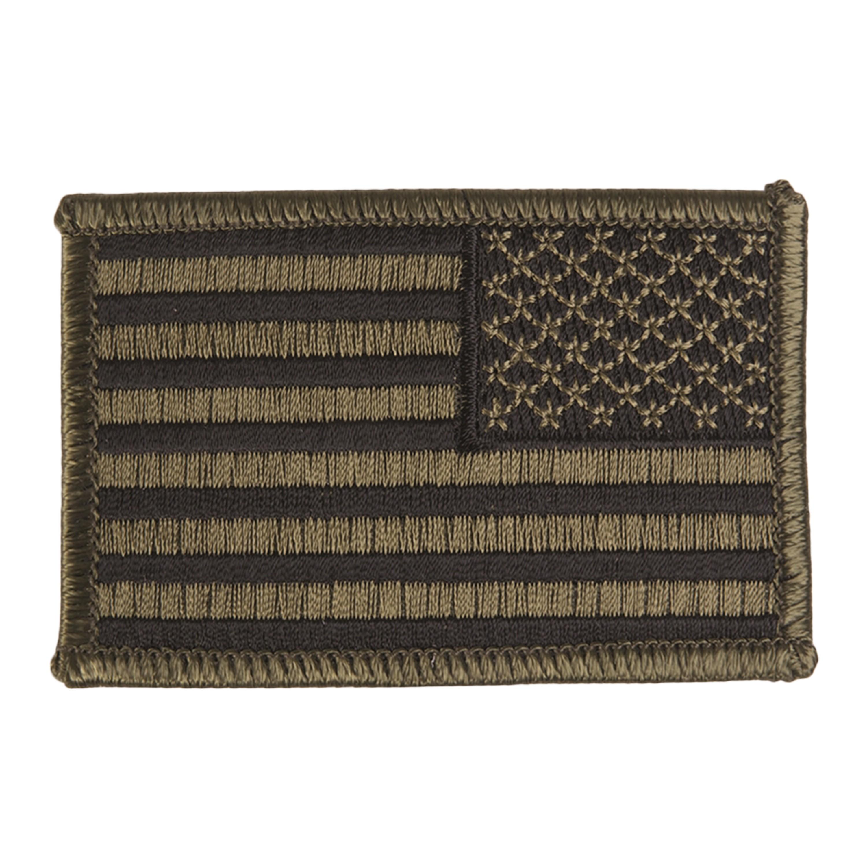 Abzeichen US Flagge rechts oliv