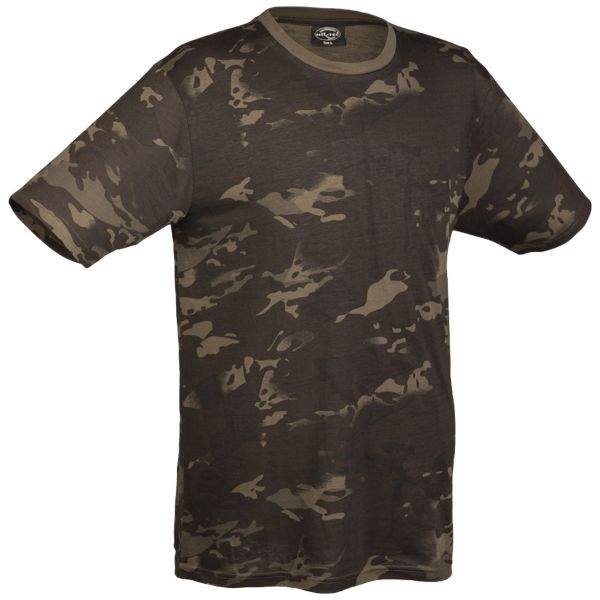 T-Shirt Tarn multitarn schwarz