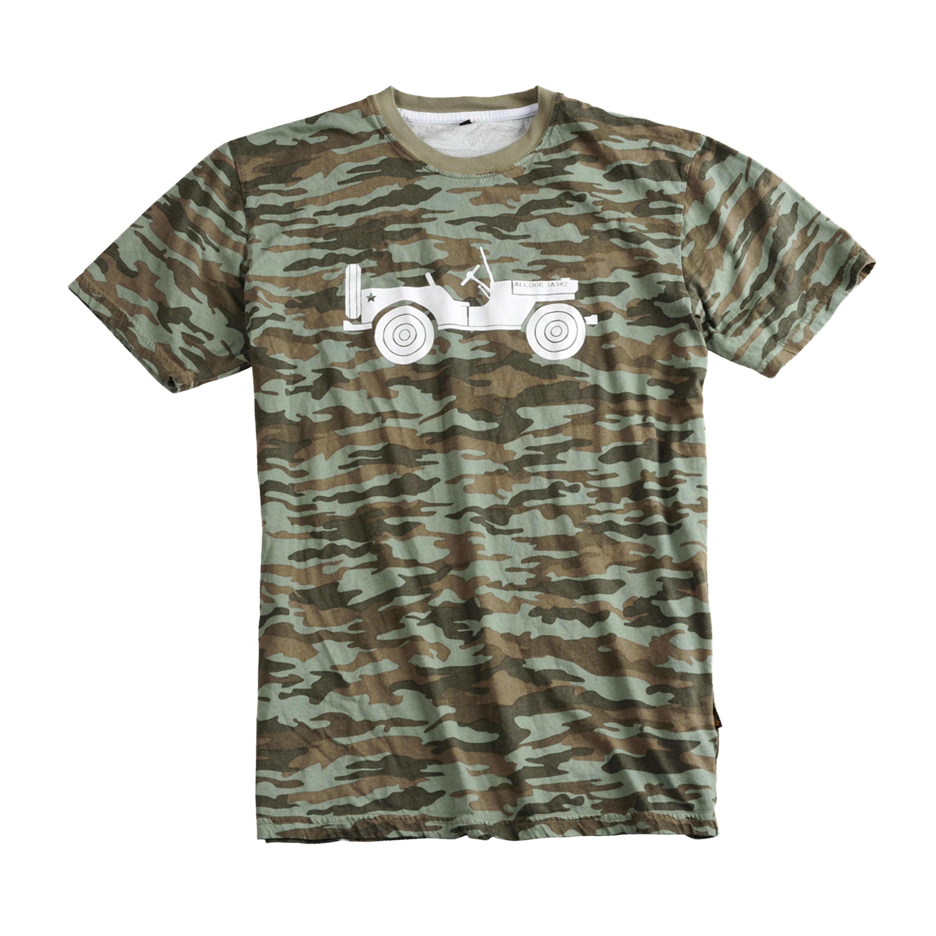 Alpha Industries T-Shirt Willys oliv camo
