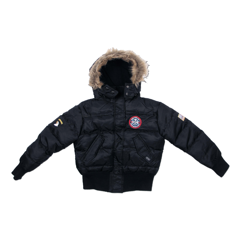 US Kinder-Polarjacke N2B schwarz