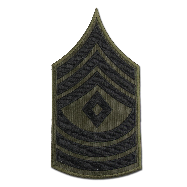 Rangabzeichen US Textil schwarz First Sergeant