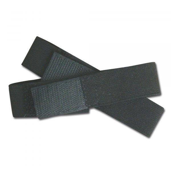 Hosengummi-Klettband schwarz 2,5 cm breit