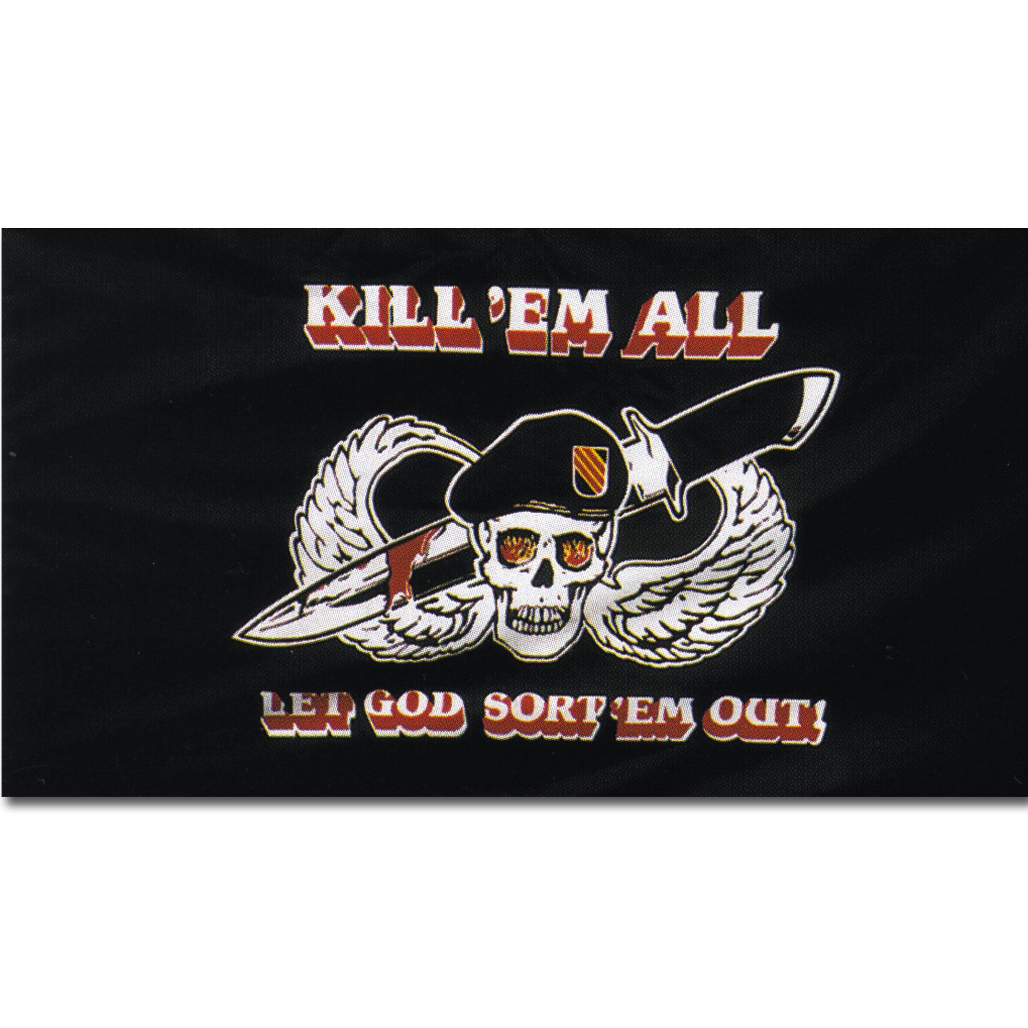Flagge Kill 'em all