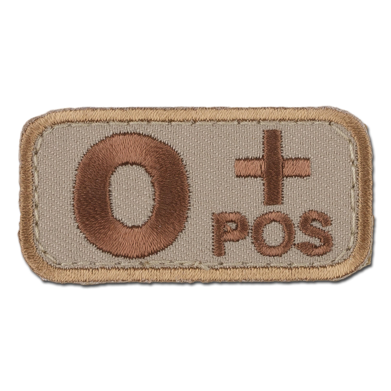 MilSpecMonkey Patch Blutgruppe O Pos desert