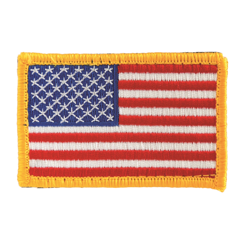Abzeichen US Flagge m. Klett bunt