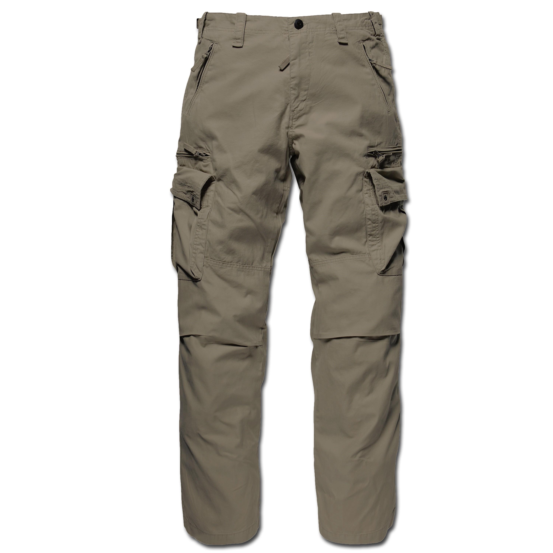 Hose Vintage Industries Rico Pant dark khaki