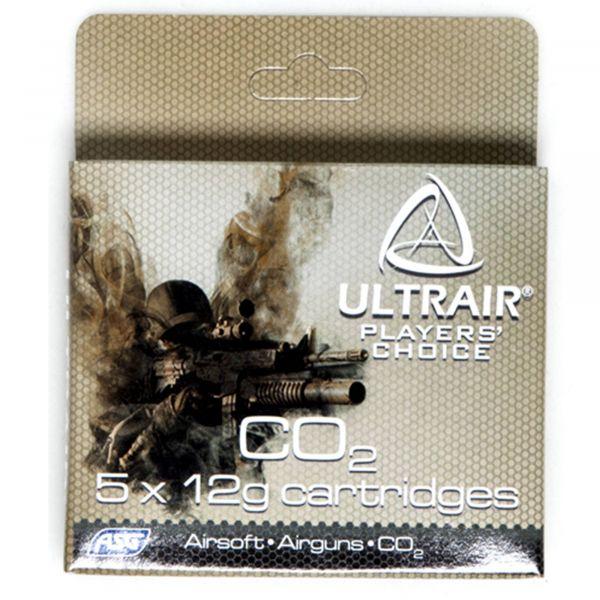 ASG Co2 Kapseln Ultrair 12 g Co2 Cartridge 5 Stück