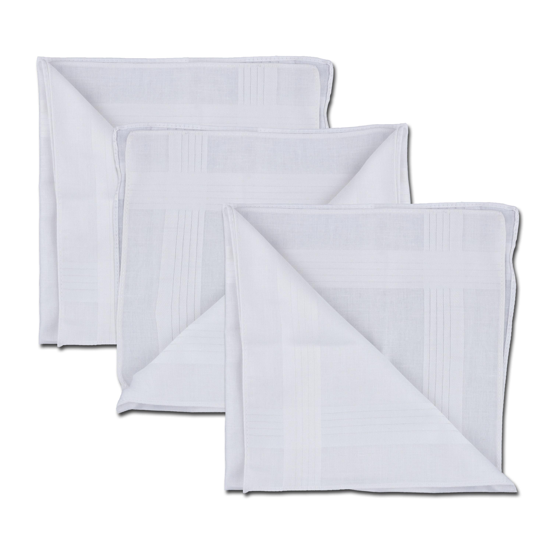 Taschentuch weiß 40 x 40 cm 3er Pack