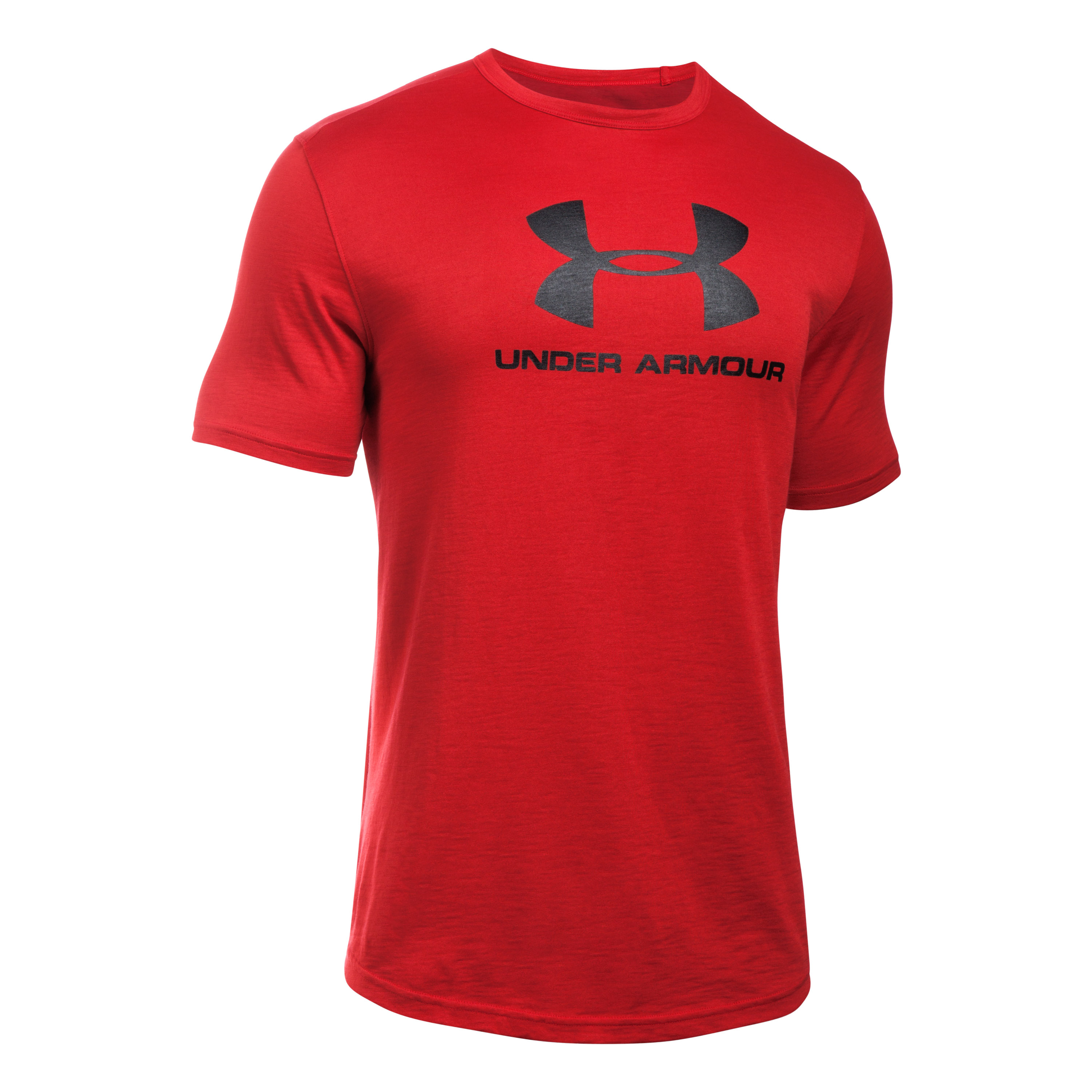 Under Armour Fitness T-Shirt Sportstyle Branded Tee rot