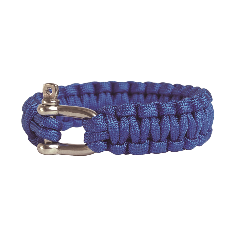 Survival Paracord Bracelet Metallverschluss blau