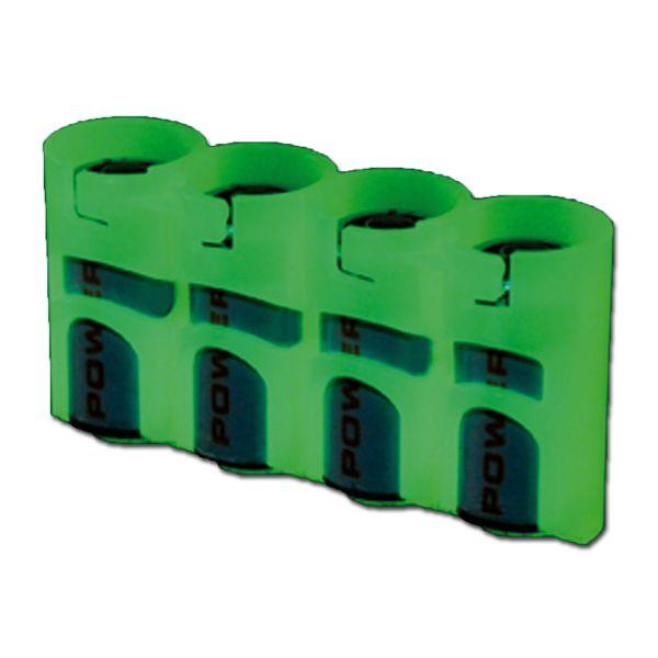 Batteriehalter Powerpax SlimLine 4 x CR123 nachleuchtend