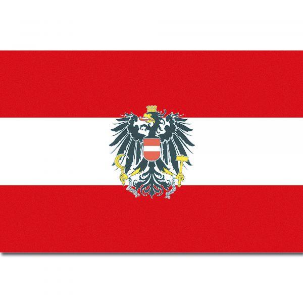 Flagge Österreich (mit Wappen)