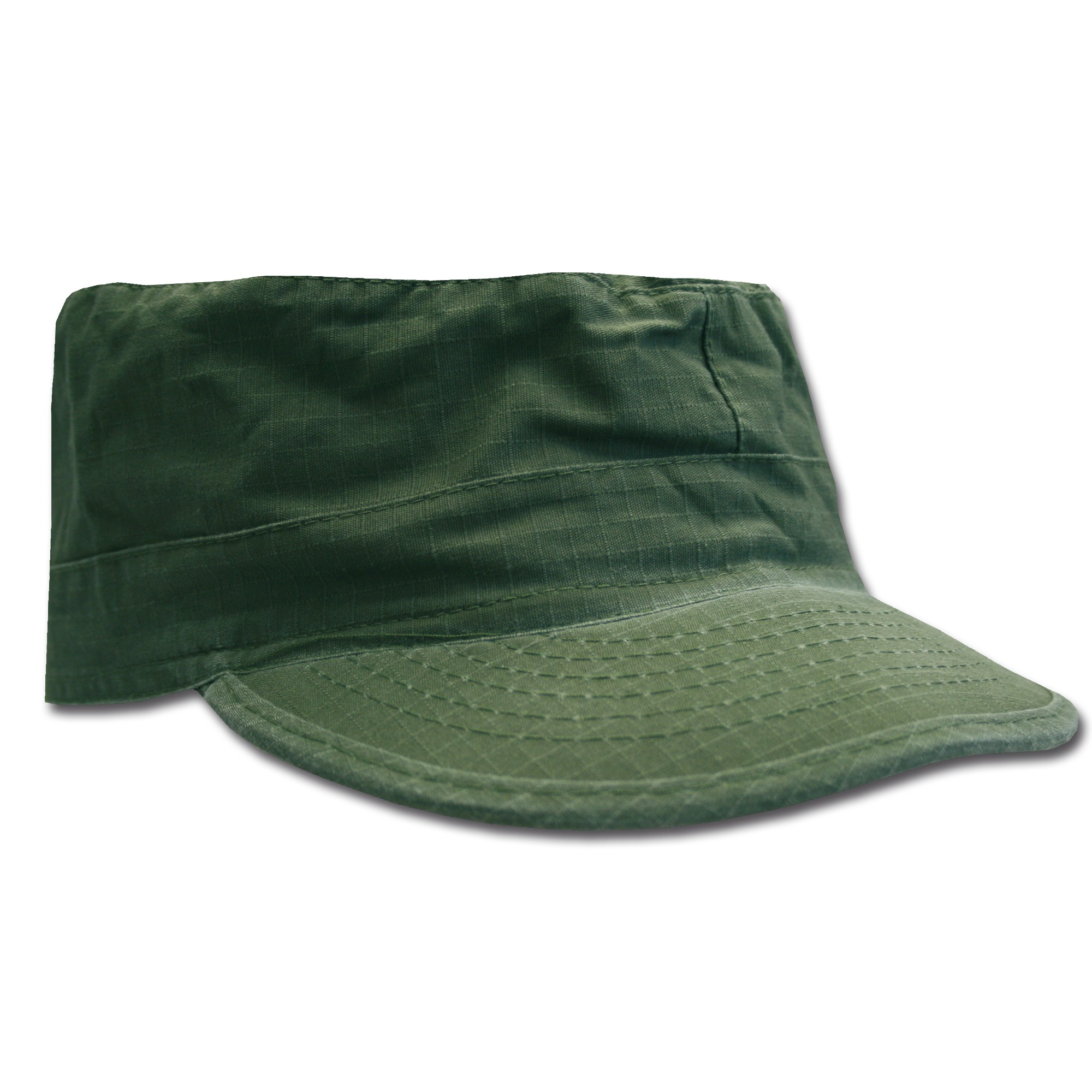 BDU Cap oliv washed Ripstop