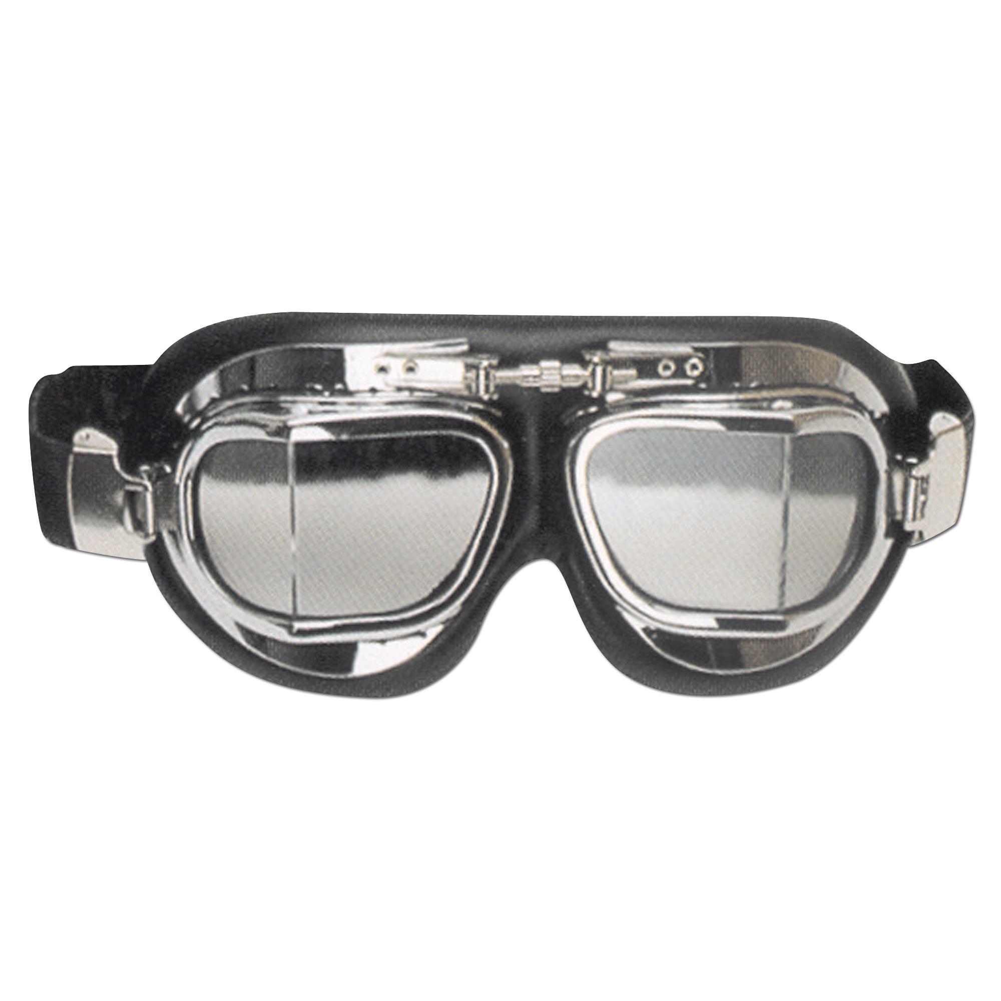 Fliegerbrille RAF verchromtes Gestell