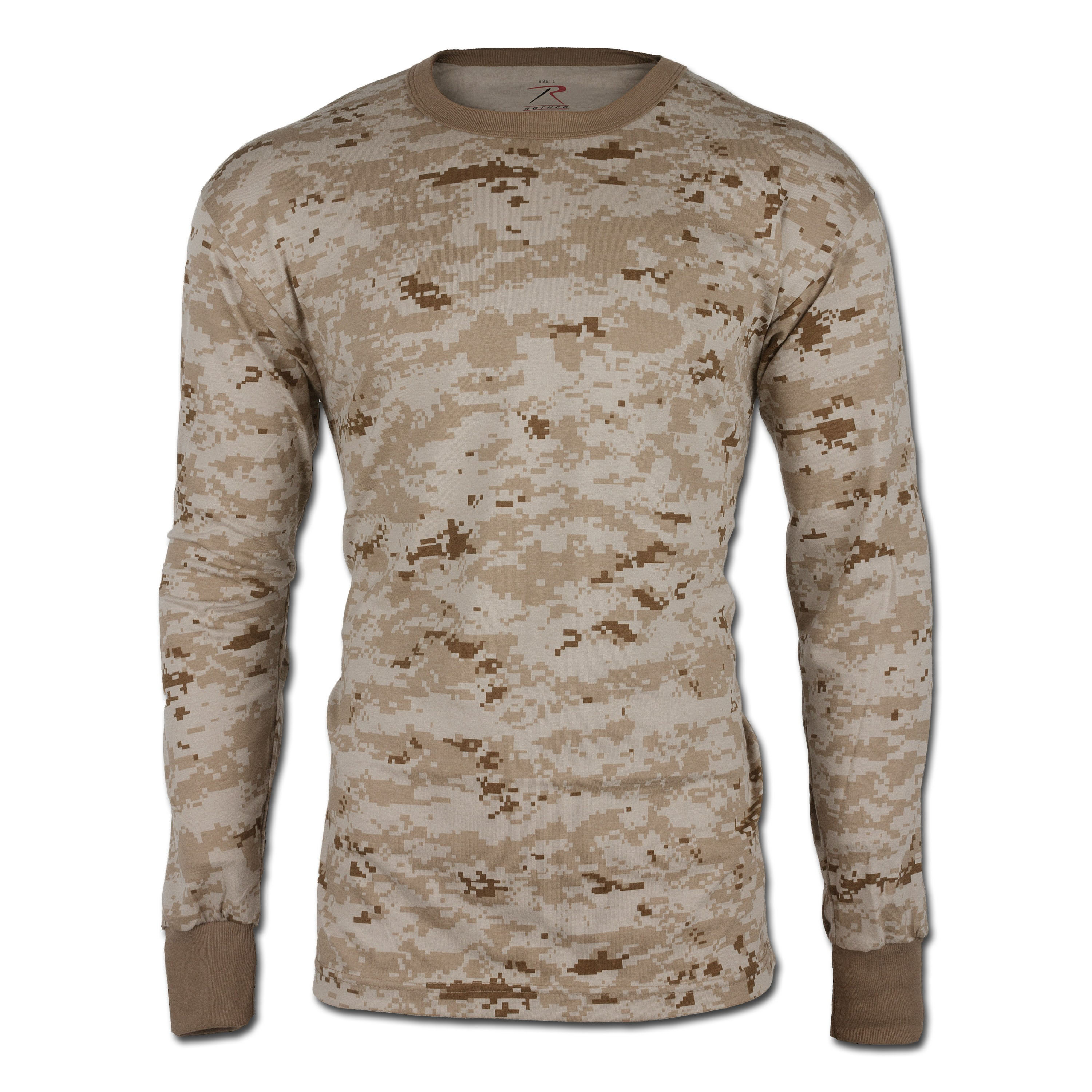 Rothco Long-Sleeve Tee Desert Digital Camo