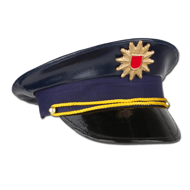 Kinder Polizeimütze blau