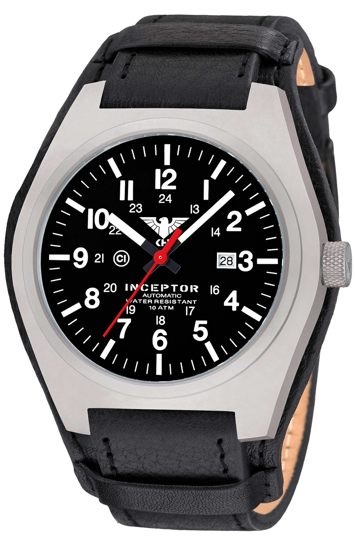 KHS Uhr Inceptor Steel Automatic Lederband G-Pad schwarz