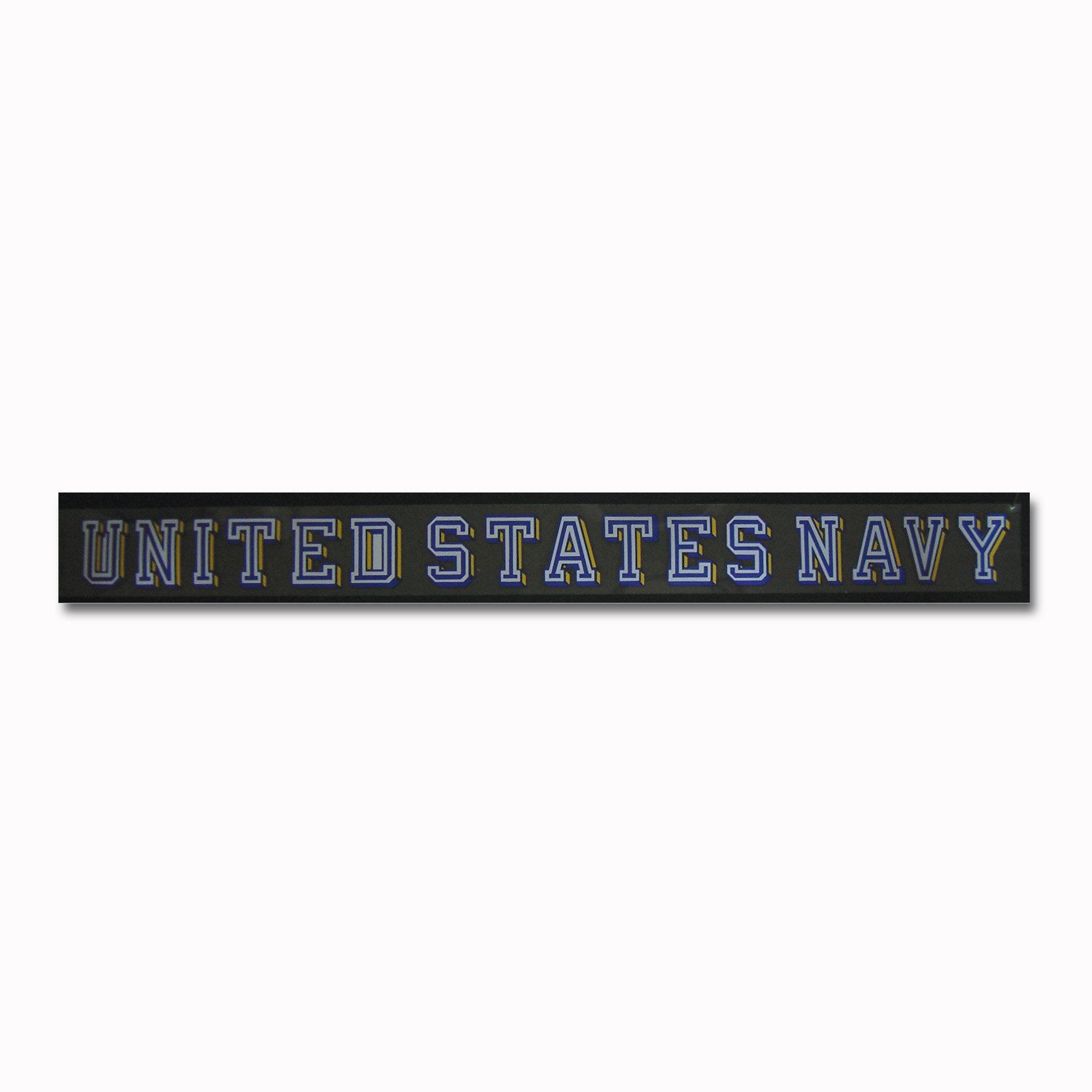 Fenster Sticker UNITED STATES NAVY transparent