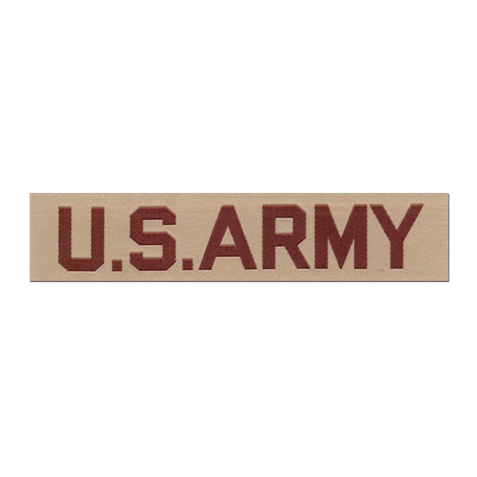 Abzeichen US Textil Branch US ARMY desert