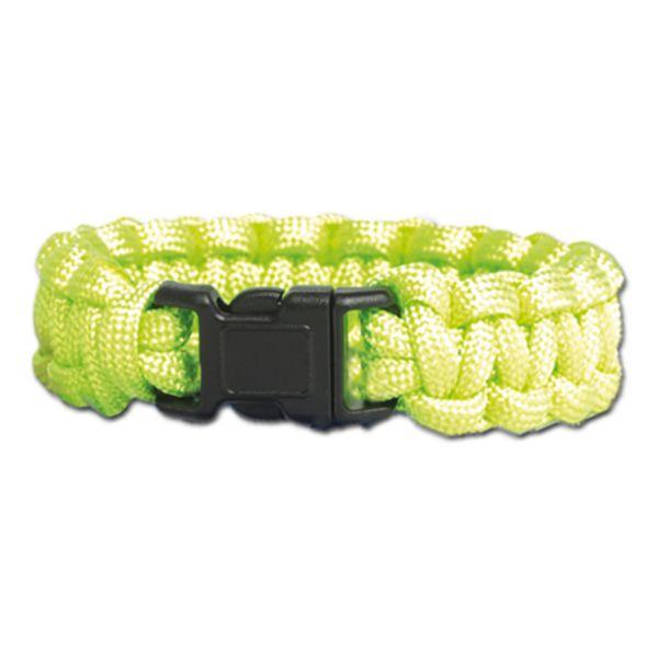 Survival Paracord Bracelet grün
