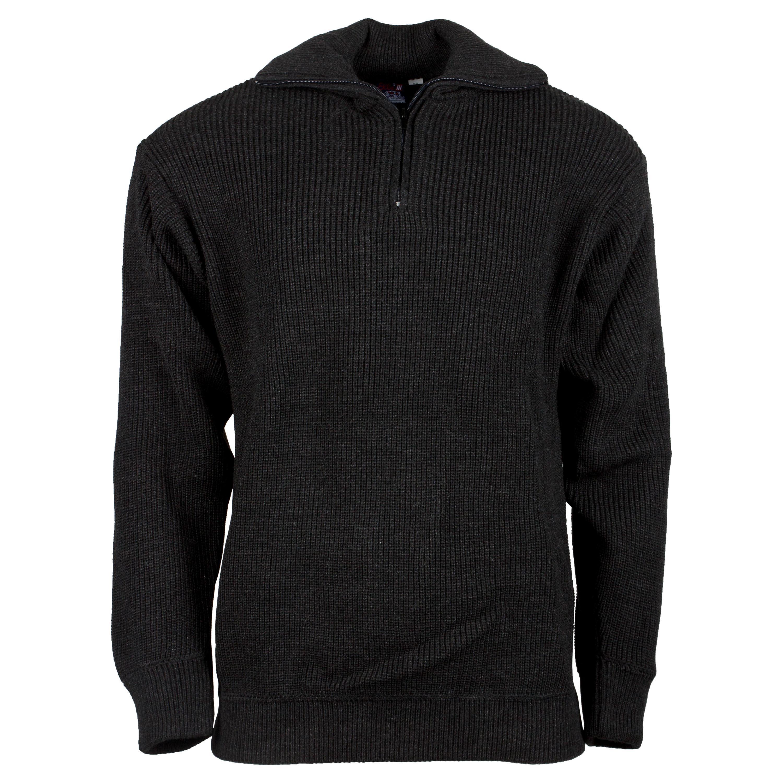 Pullover Troyer Acryl grau