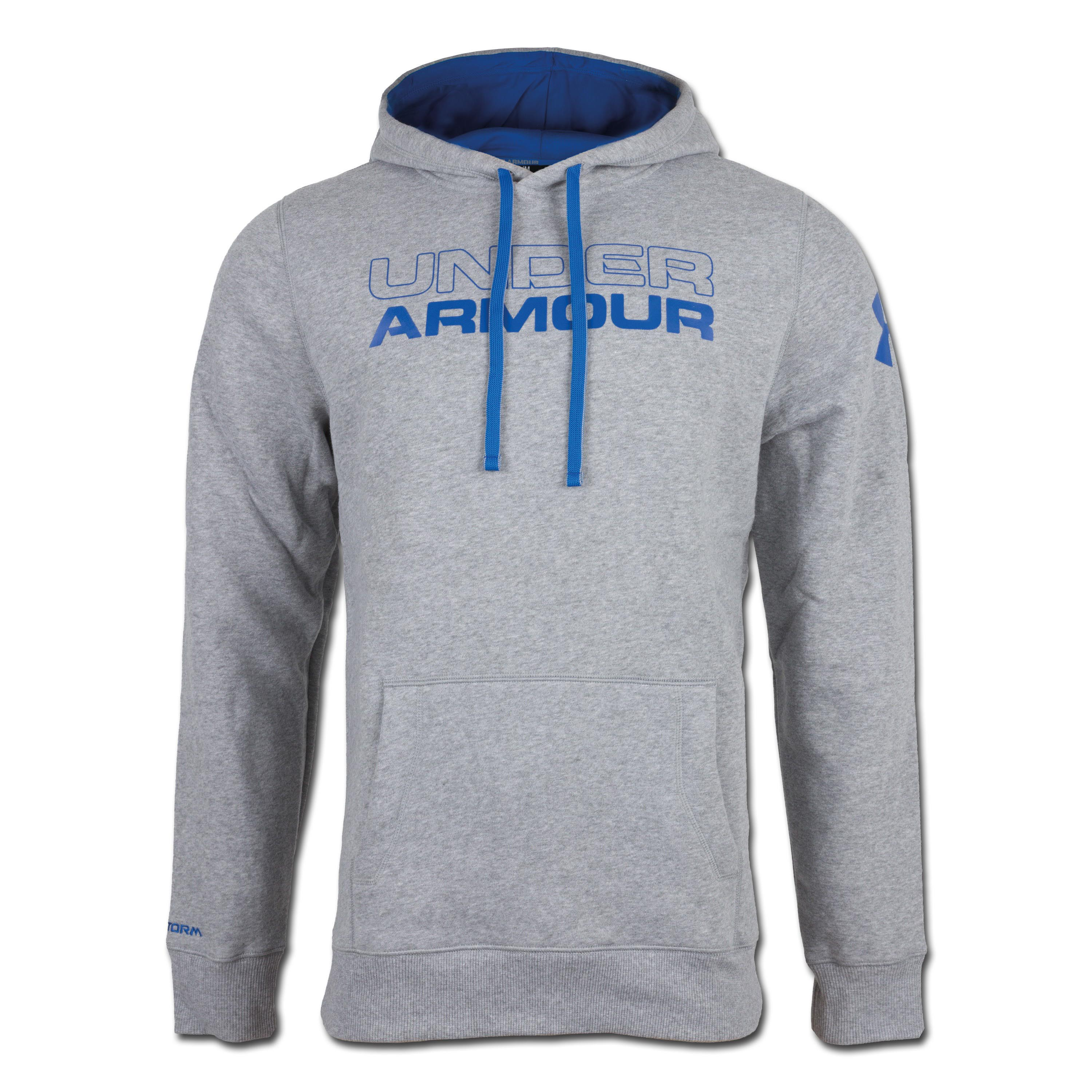 Under Armour Charged Cotton Storm Undisputed Hoody grau