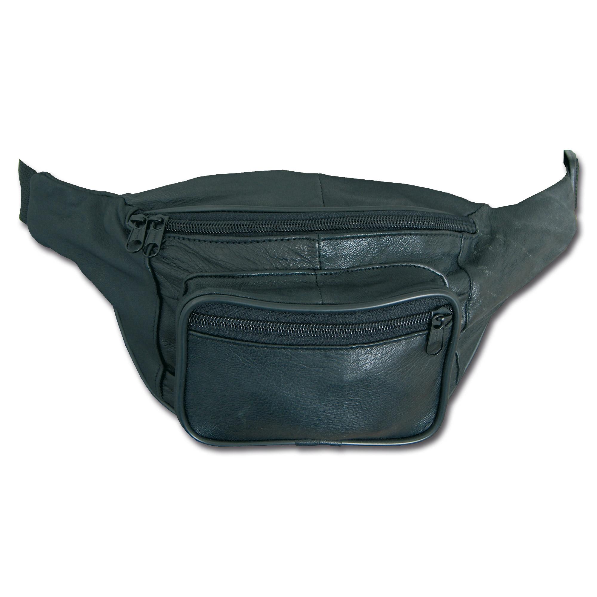 Hip-Bag Leder schwarz
