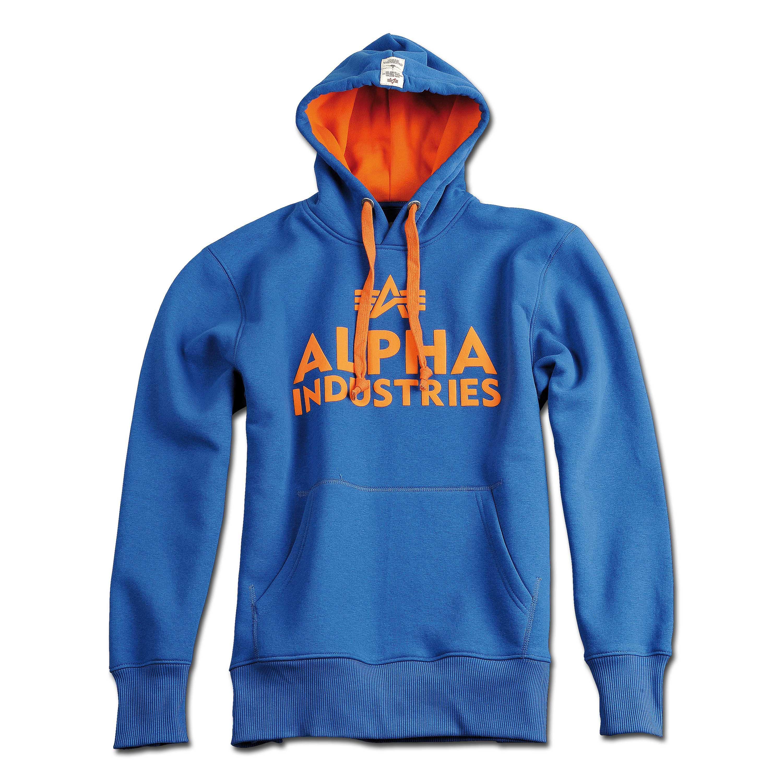 Hoodie Alpha Industries Foam Print blau