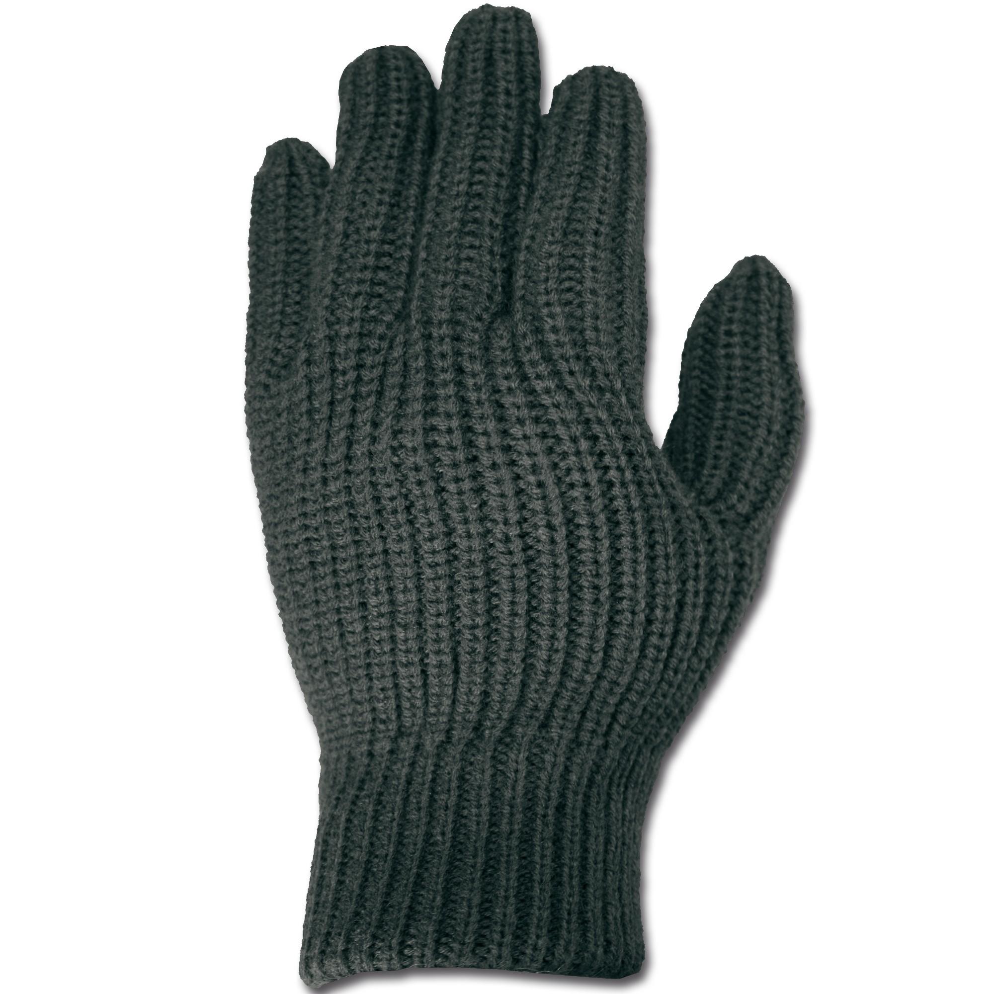 Fingerhandschuhe Acryl schwarz