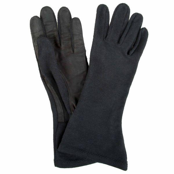 BW Fliegerhandschuhe Aramid Leder schwarz gebraucht