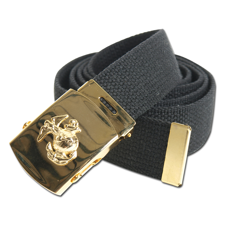 US Hosengürtel Marine Corps schwarz