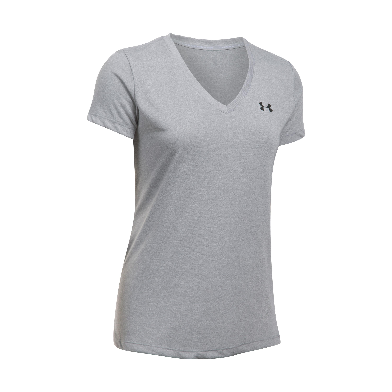 Under Armour Women T-Shirt Threadborne Train Twist grau